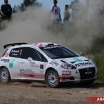 Rossetti e l'Abarth Grande Punto S2000 consolidano il primato nell'Europeo Rally